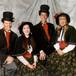 Carolers Pose in Brentwood
